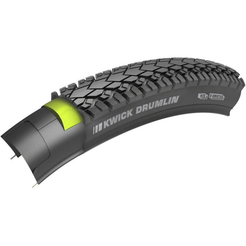 Kenda Kwick Drumlin Tire 700 x 50 SRC Kind Shock 60tpi Wire Bead Reflective Tape