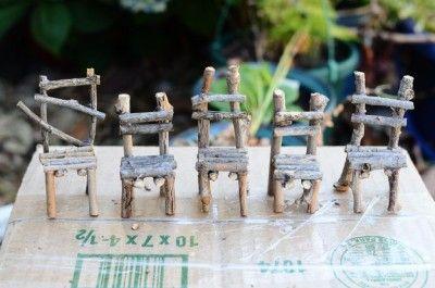 Créer des petites chaises pour les fées ... | Meubles ...