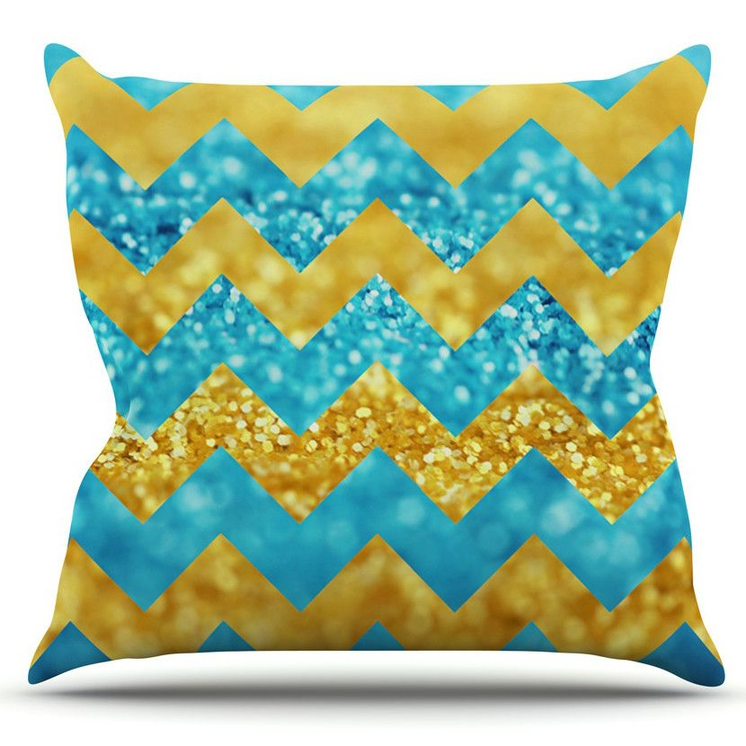 Blueberry Twist by Beth Engel Outdoor Throw Pillow