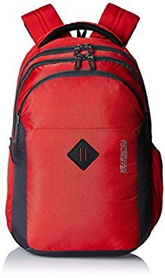 American Tourister 27 Ltrs Comet Red Laptop Backpack on Amazon