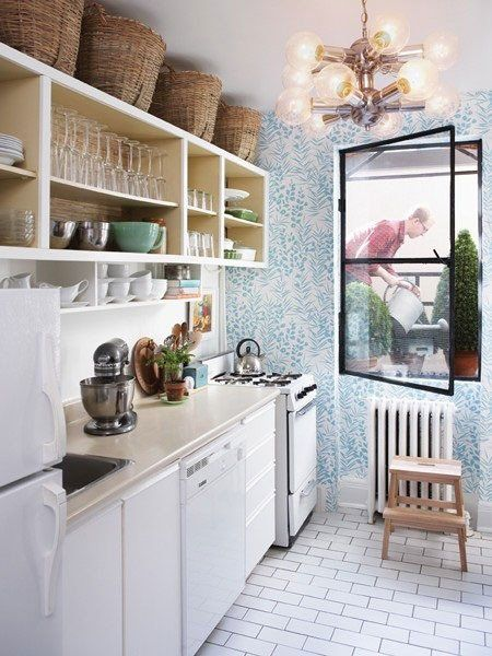 wonderfully wallpapered small spaces small kitchen storage small kitchen inspiration small on kitchen organization for small spaces id=42885