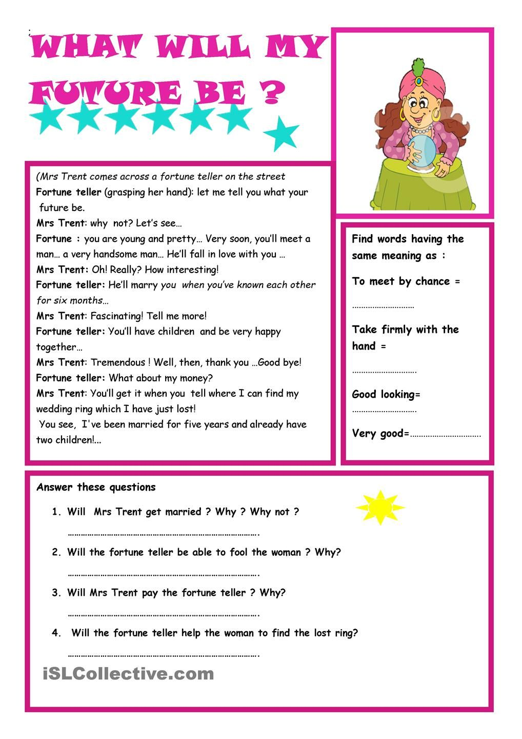 Simple Future Tense | Esl in 2018 | Pinterest | Worksheets ...