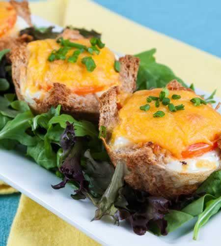 Diabetic Egg Breakfast Recipes: A Festive, Sustaining Breakfast: Eggs In A Nest. Diabetic