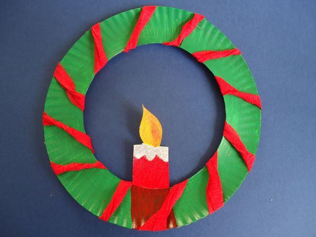 6 adornos para navidad con platos desechables cosas for Navidad adornos manualidades navidenas
