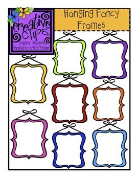 Free Fancy Frame Clipart This Set Has 8 Crisp Colorful Images And