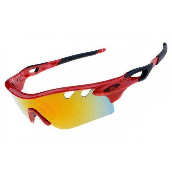 b3e7c8d6ec42e ... italy oakley radarlock path sunglasses black red frame fire iridium lens  e6053 d6ef4
