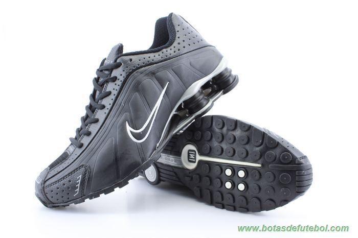 69499db94f Masculino-Mulheres 104265-003 Preto Prata Nike Shox R4 chuteiras para vender
