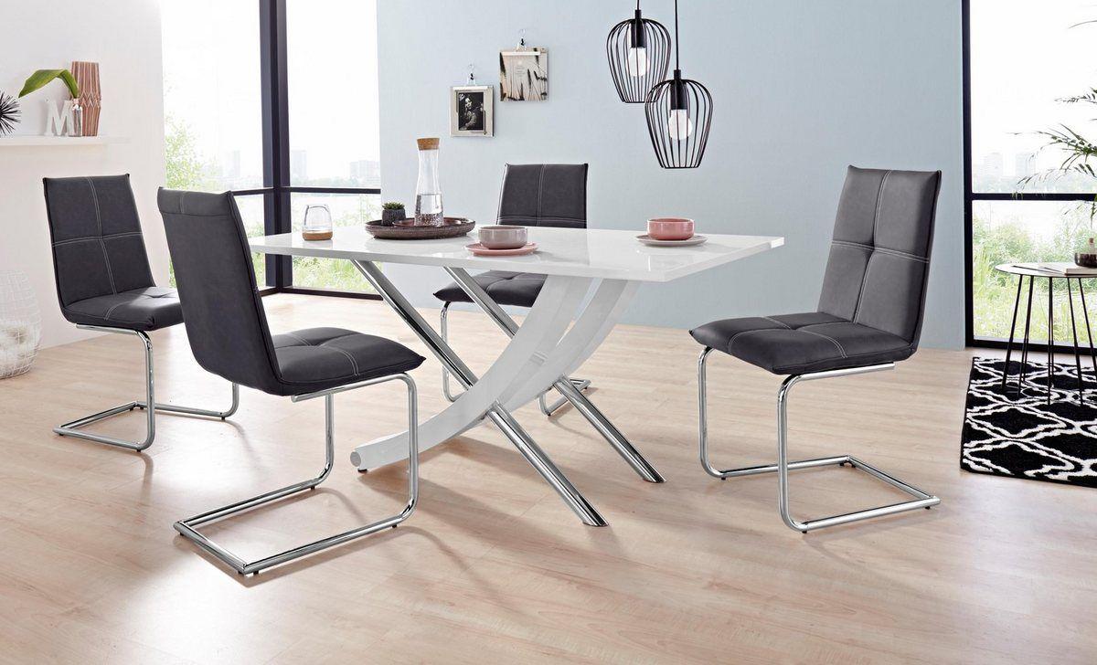 Essgruppe Kaleo Claire Set 5 Tlg Mit 4 Stuhlen Und 1 Tisch