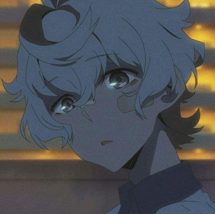 Cool Blue Anime Boy Aesthetic Pfp - Ring's Art