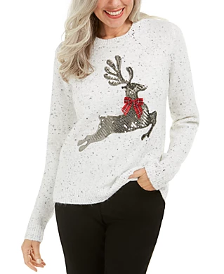 White Pullover Women's Sweaters Macy's | Christmas
