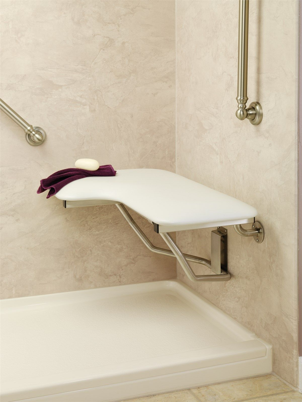 Seachrome Shower Seat | Roll-in showers | Pinterest | Shower seat ...