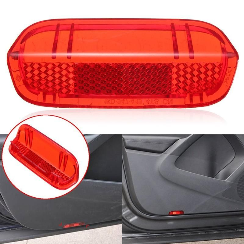 Car Clip on Red Reflector Door Guard Protector Pair BRAND NEW