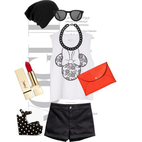 Без названия #18 by vasilisa-i on Polyvore featuring мода, dELiA*s, H&M, Dolce&Gabbana, Kate Spade Saturday, Monki, Shwood and PUR