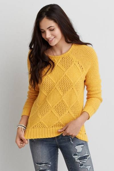 AEO Prescott Sweater by AEO | A fresh take on the aran cable-knit ...