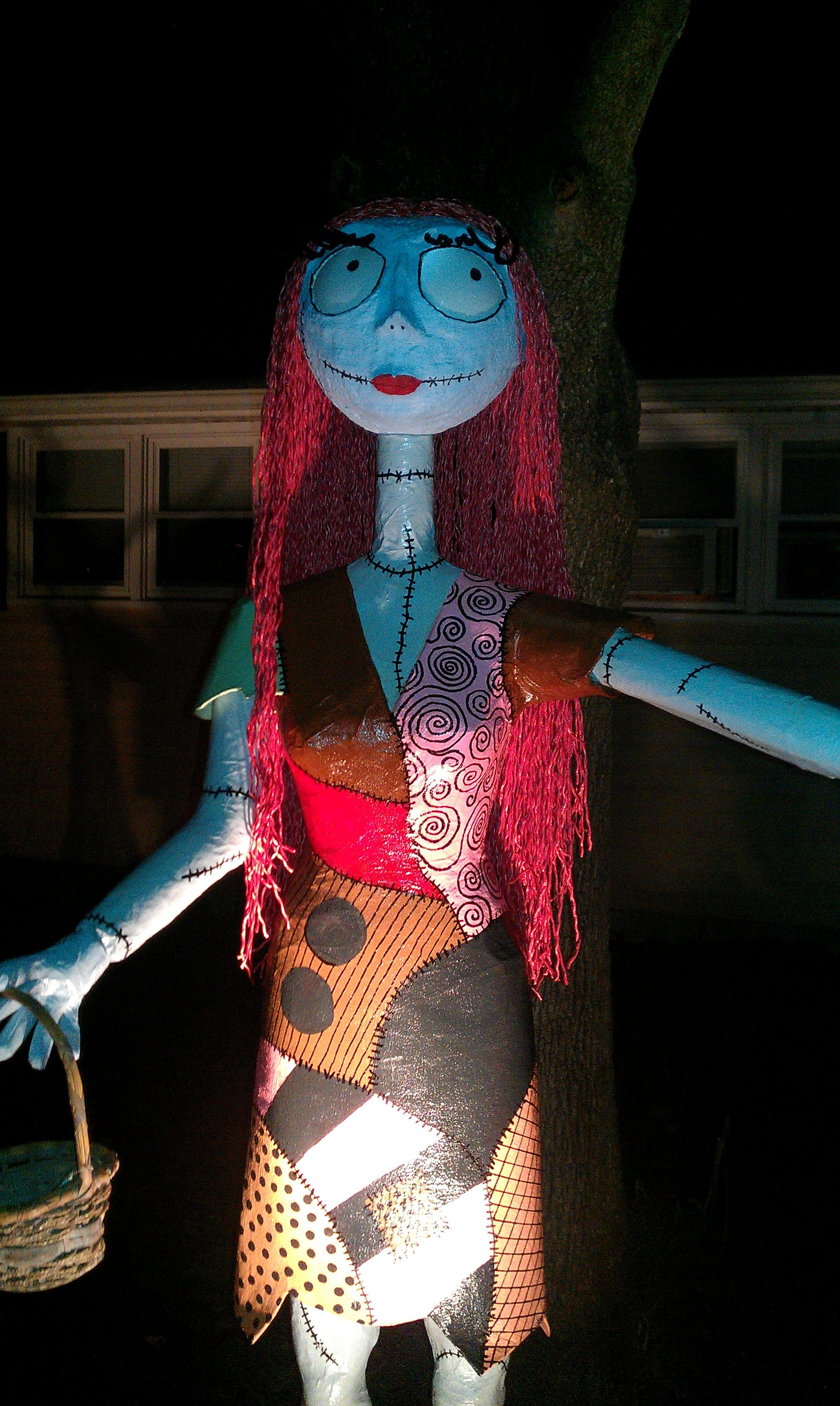 Diy jack skellington s body nightmare before christmas youtube - Paper Mache Nightmare Before Christmas Characters Sally Stands About 6 Feet Tall