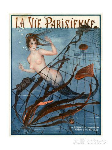 1920s France La Vie Parisienne Magazine Cover. Art Print from AllPosters.com, $29.99