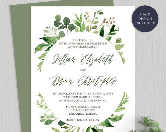 Invito Matrimonio Rustico : Printable wedding invitations diy invitation