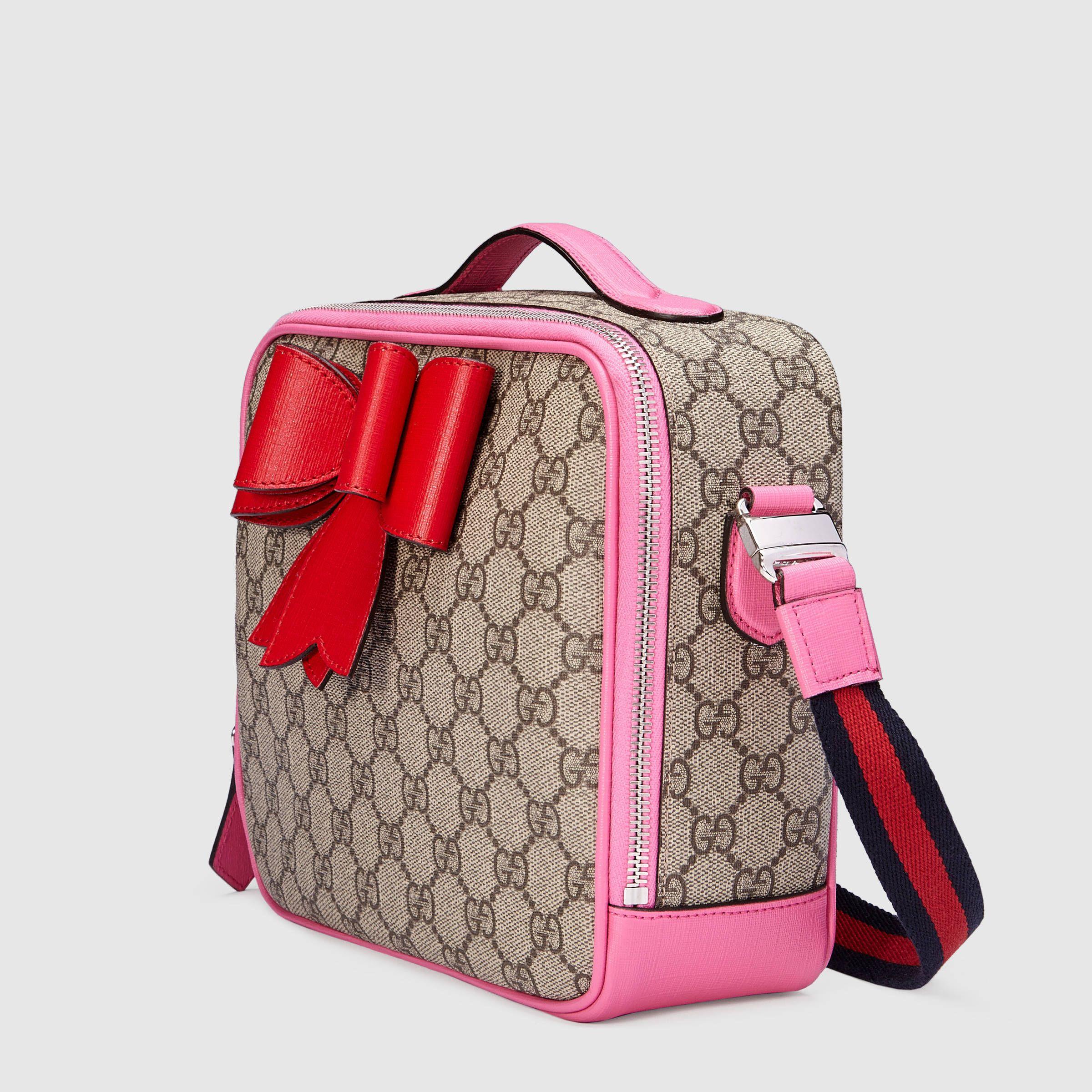 d6635d6558a Children s GG Supreme bow messenger - Gucci Children s Gifts 462500K8K6N8269