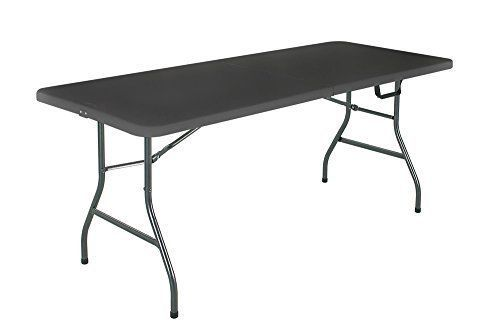 Outdoor Bbq Party Camping Centerfold 6 Feet Black Folding Table Cosco Folding Table Cosco Kid Room Decor