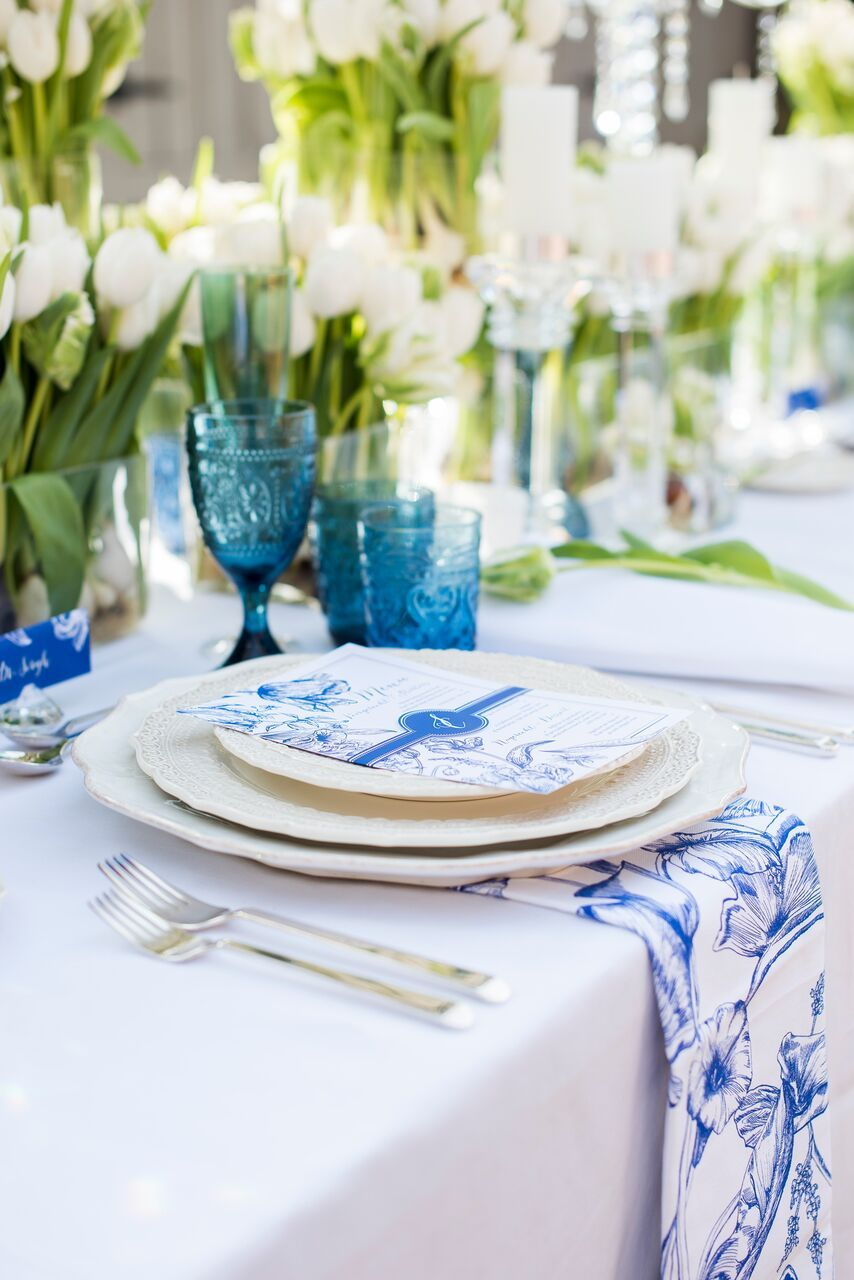 Wedding decoration ideas blue and white  Gorgeous Blue and White Dutch Wedding Inspiration Shoot  Weddings