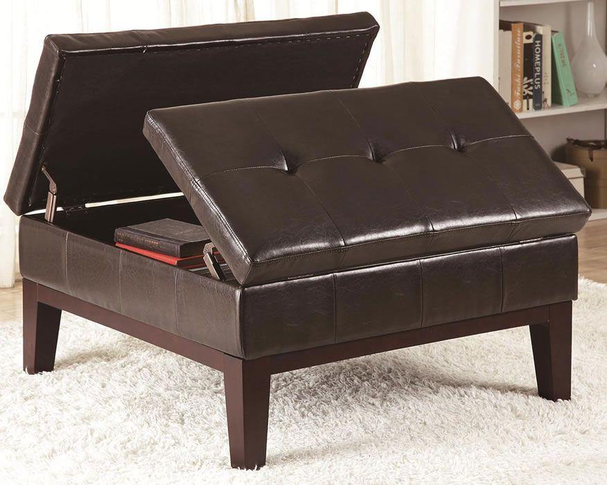 Tapizado en piel marrón oscuro, este moderno diseño. | Para mí casa ...
