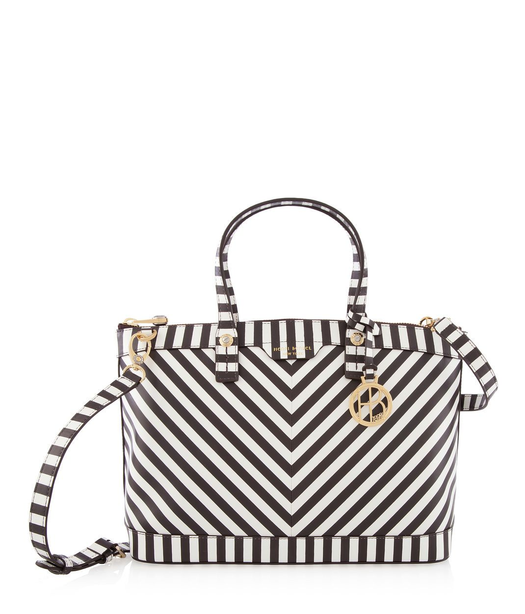 West 57th Centennial Stripe Satchel Matching Handbags Wallets Henri Bendel