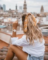 Hübscher Haarschal #beauty #style