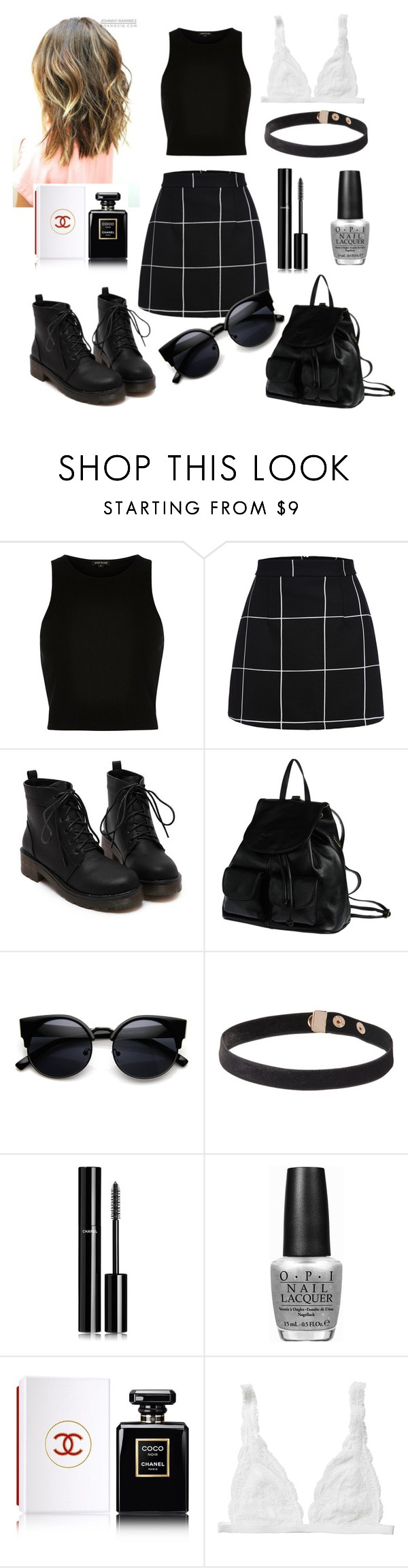 """.."" by andivesa ❤ liked on Polyvore featuring River Island, PARENTESI, Chanel, OPI and Monki"
