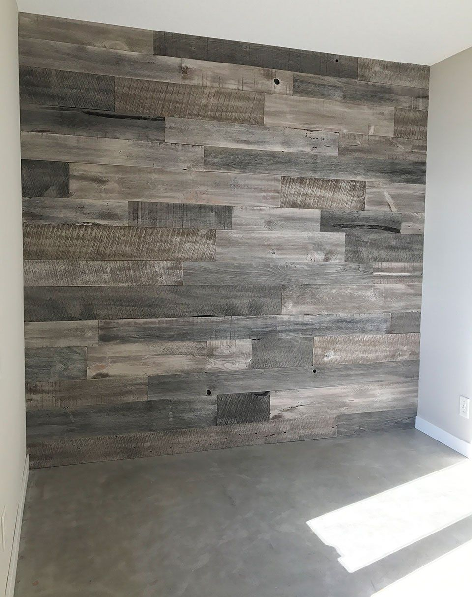 Bedroom Makeover With Rustic Barnwood Accent Wall And Concrete Floors Accent Walls In Living Room Barnwood Accent Wall Rustic Flooring