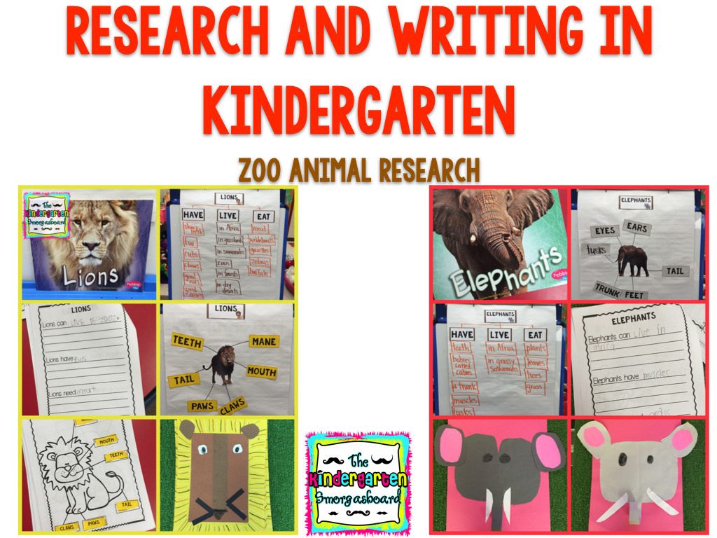 Zoo Animals Research And Writing In Kindergarten