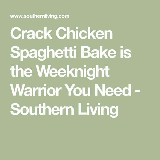 crack chicken spaghetti bake recipe
