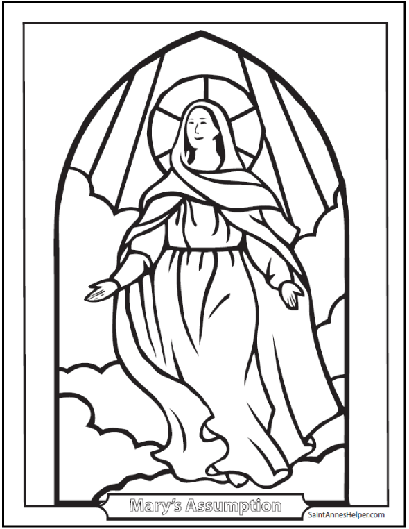 assumption of mary coloring pages - photo#1