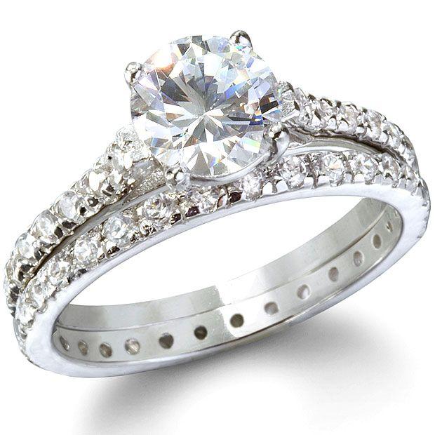 Cheap Cz Sterling Silver Wedding Ring Sets Cubic Zirconia Wedding Rings Sterling Silver Wedding Rings Cubic Zirconia Engagement Rings