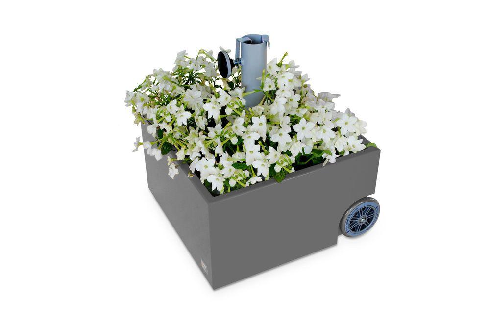 Bepflanzbarer Sonnenschirm Ständer Flowerpower rollbar Design Max Kistner XXD
