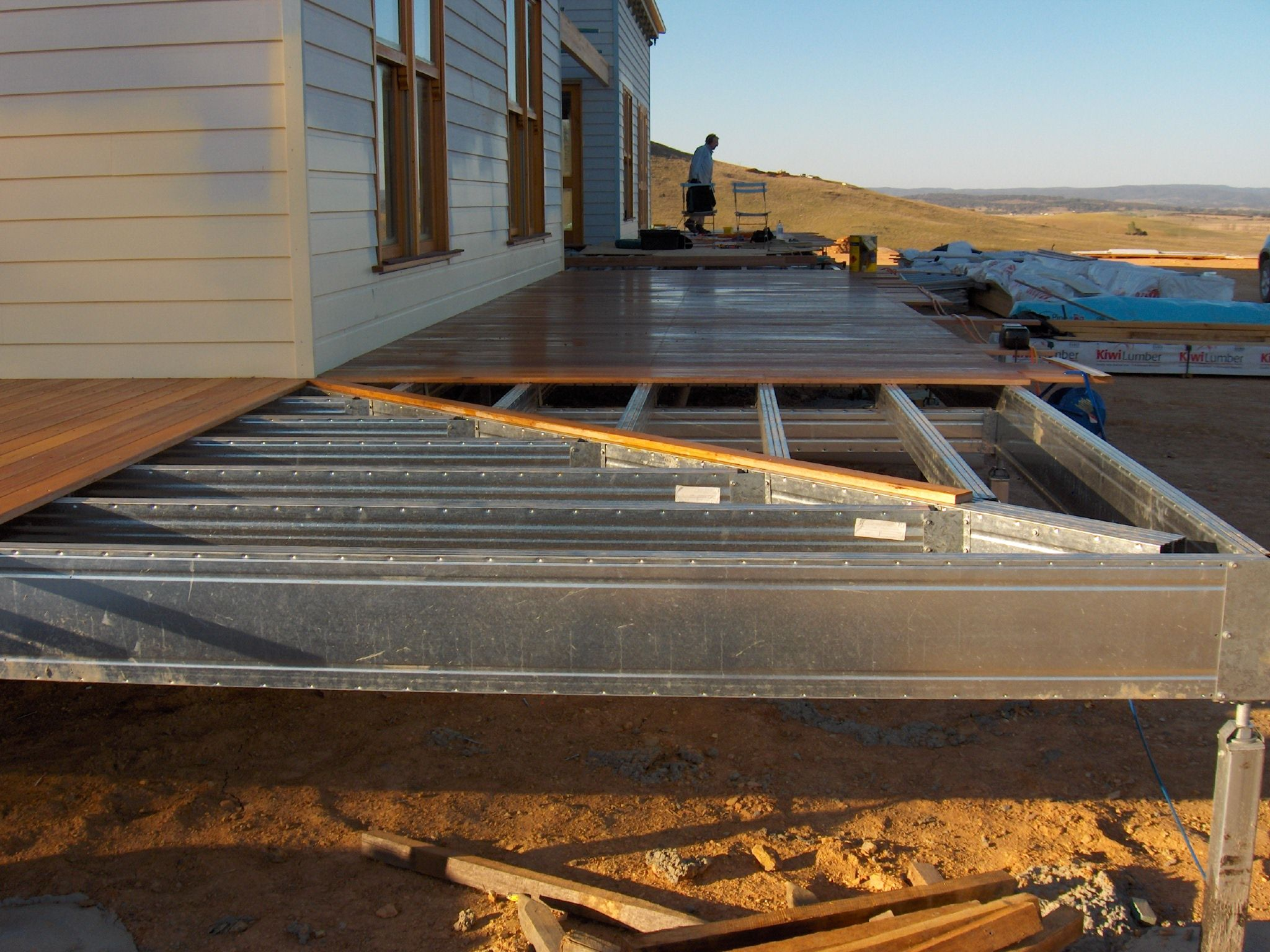 wrap around deck frame with mitred corner