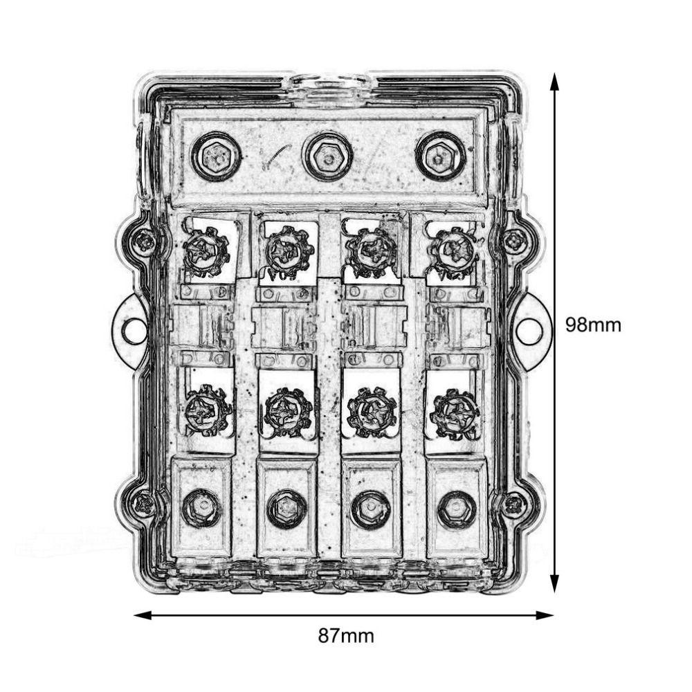 Universal Car Stereo Audio Power Fuse Box Waterproof Blade Holder Block 1 In 2