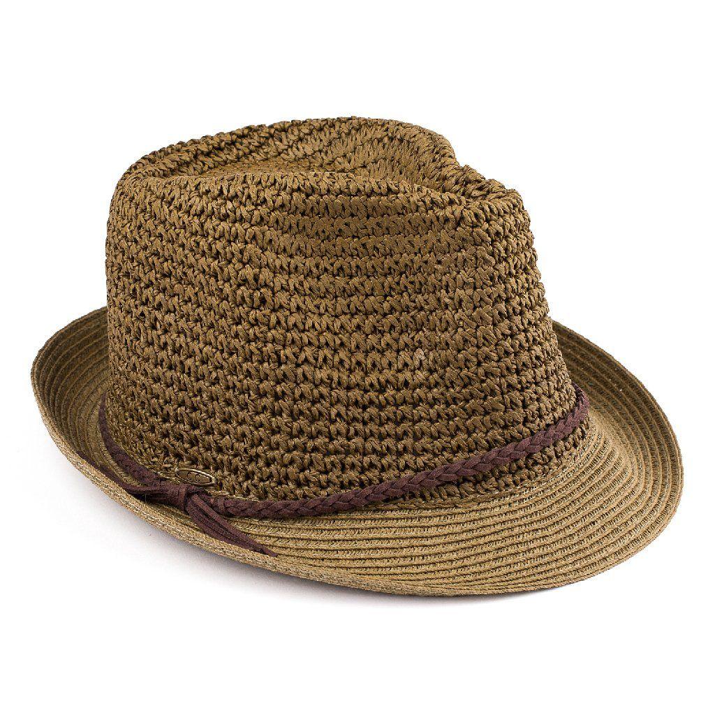 19208701f Braided Fedora Hat ST332 | C.C Beanie Products | Fedora hat, Hats ...