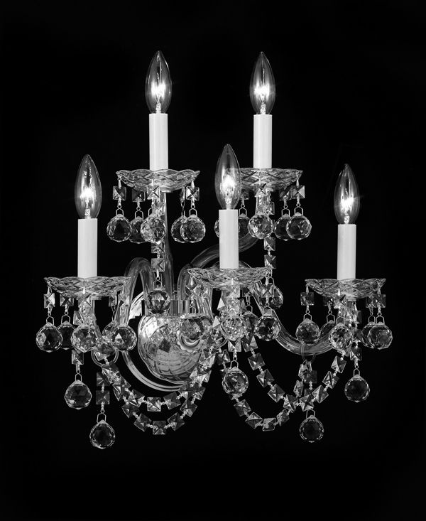 CJD-C181/Silver/042-3+2HB wall Sconce