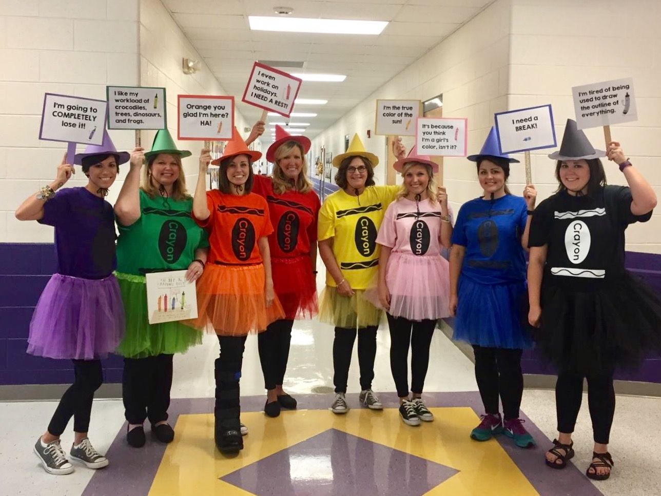 Costume ideas for groups - Literary Character Day The Day The Crayons Quit Group Literary Costumes