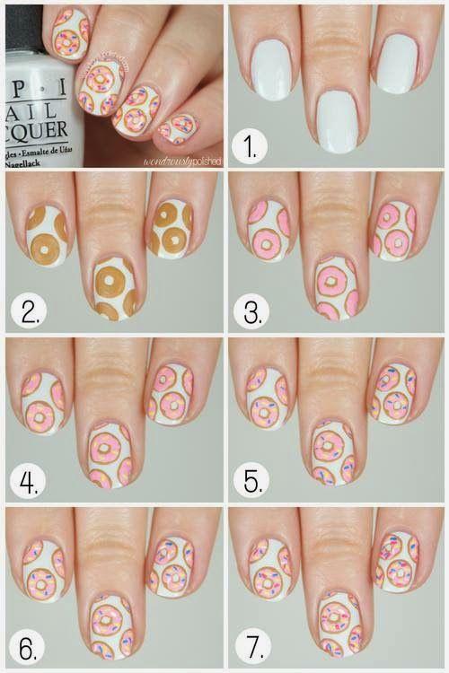 Just 4 u : Donuts Nail Art Tutorial