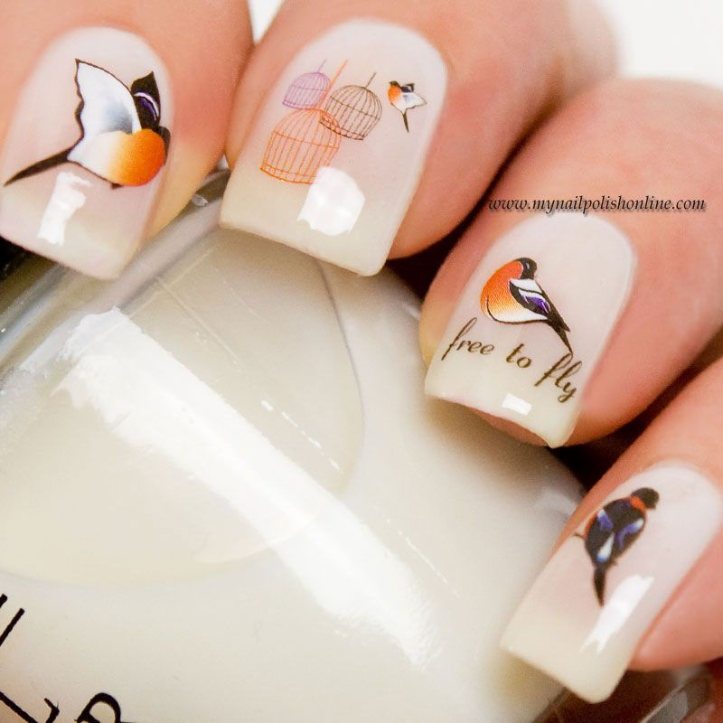 Nail Art - Birdie on Don\'t touch my tutu | Bird nail art, Nail nail ...