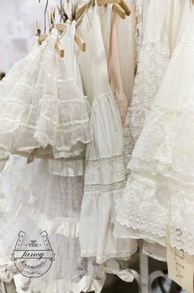 lace petticoats...did i already pin this?? oh,well...lol
