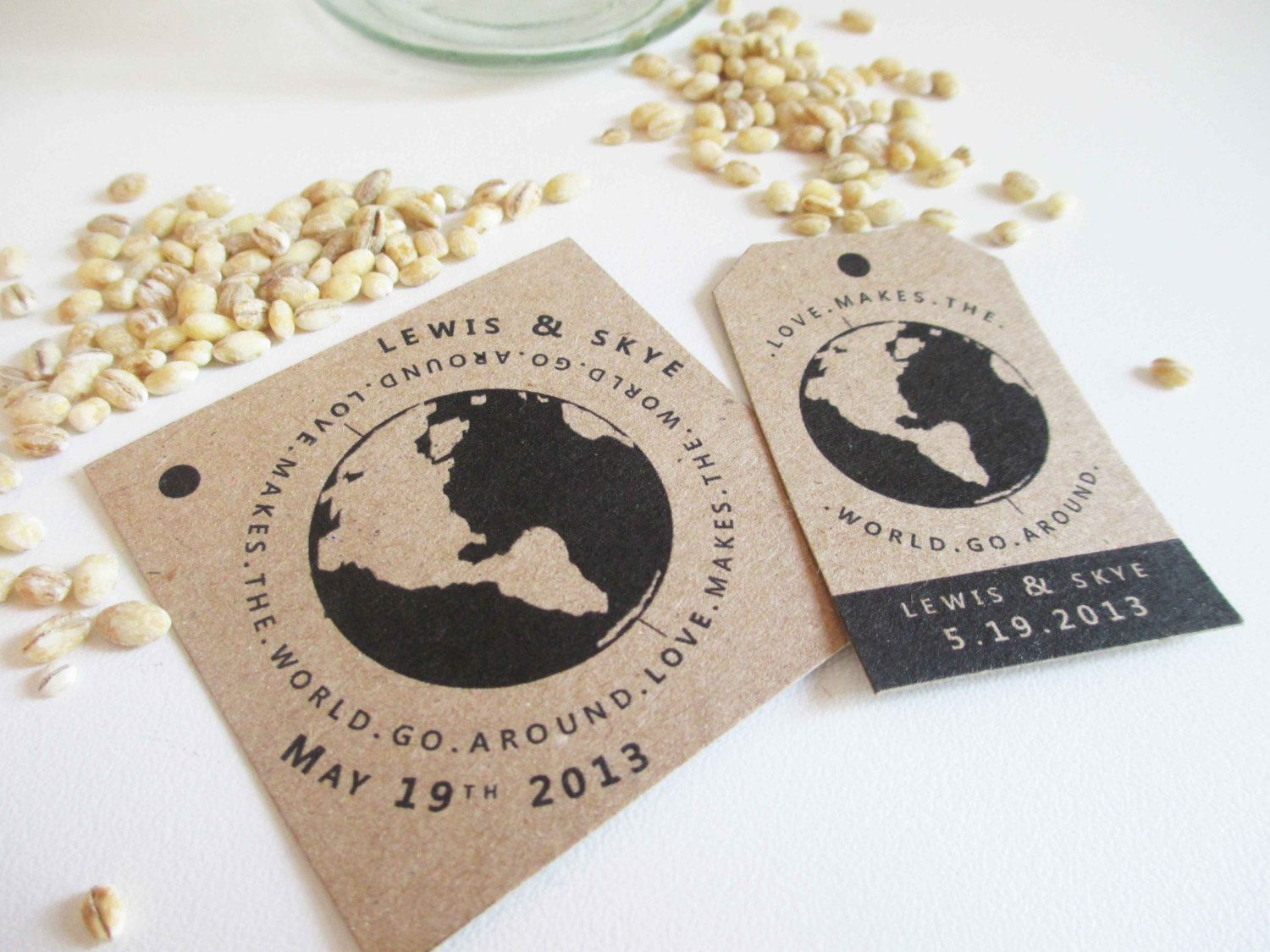 PRINTABLE Travel Themed Wedding Favor Tags 2 sizes by VanillaRetro ...