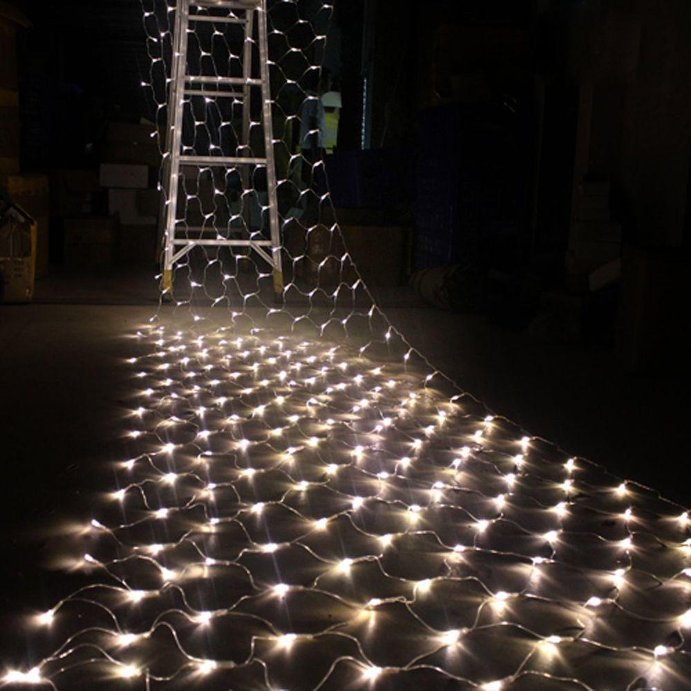 3x2m warm white 210 led net curtain string fairy lights lamp christmas xmas tree in home - Led Net Christmas Lights