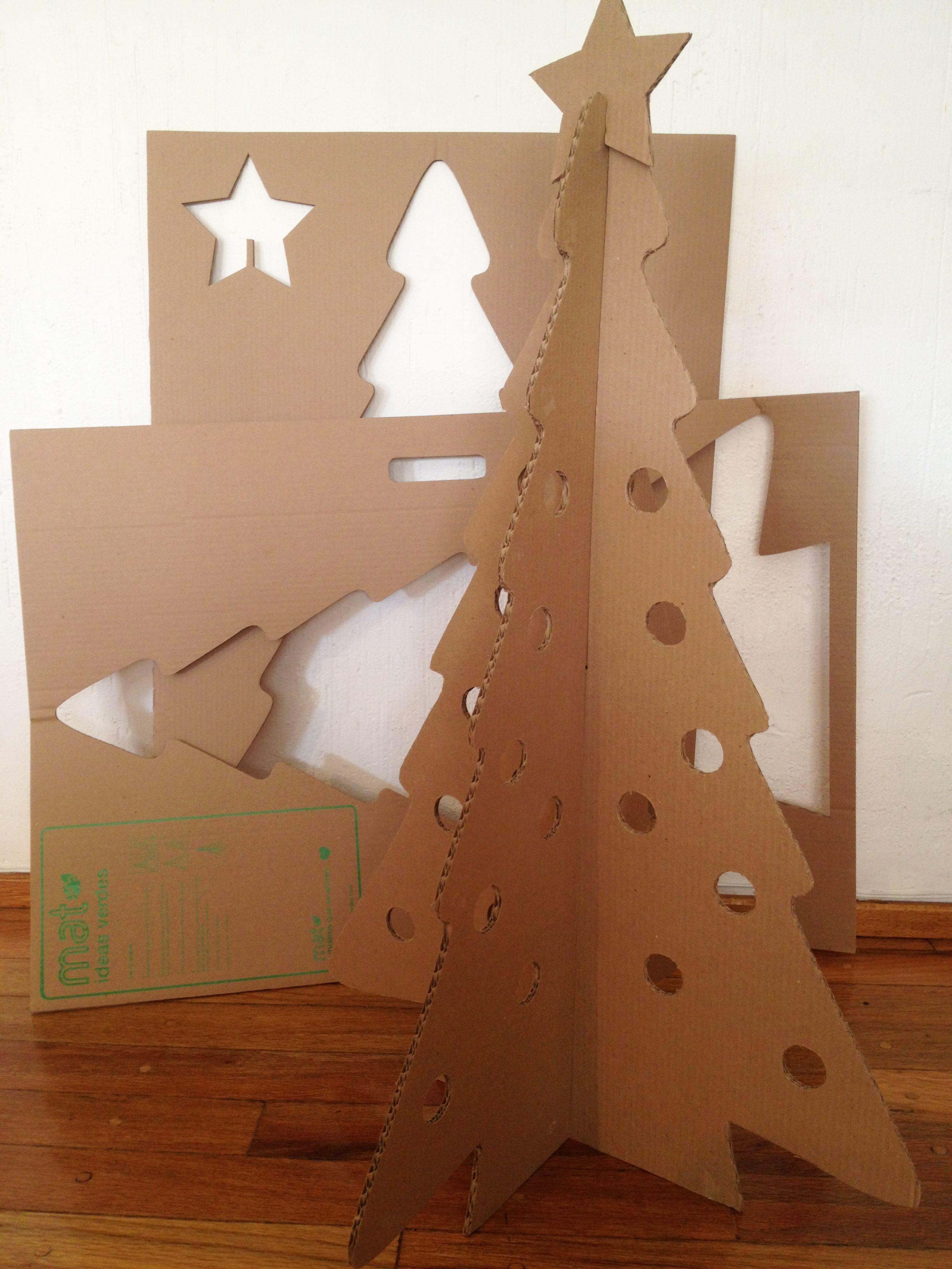 Placas de cart n donde se desprenden los arbolitos para - Arbol de navidad diseno ...