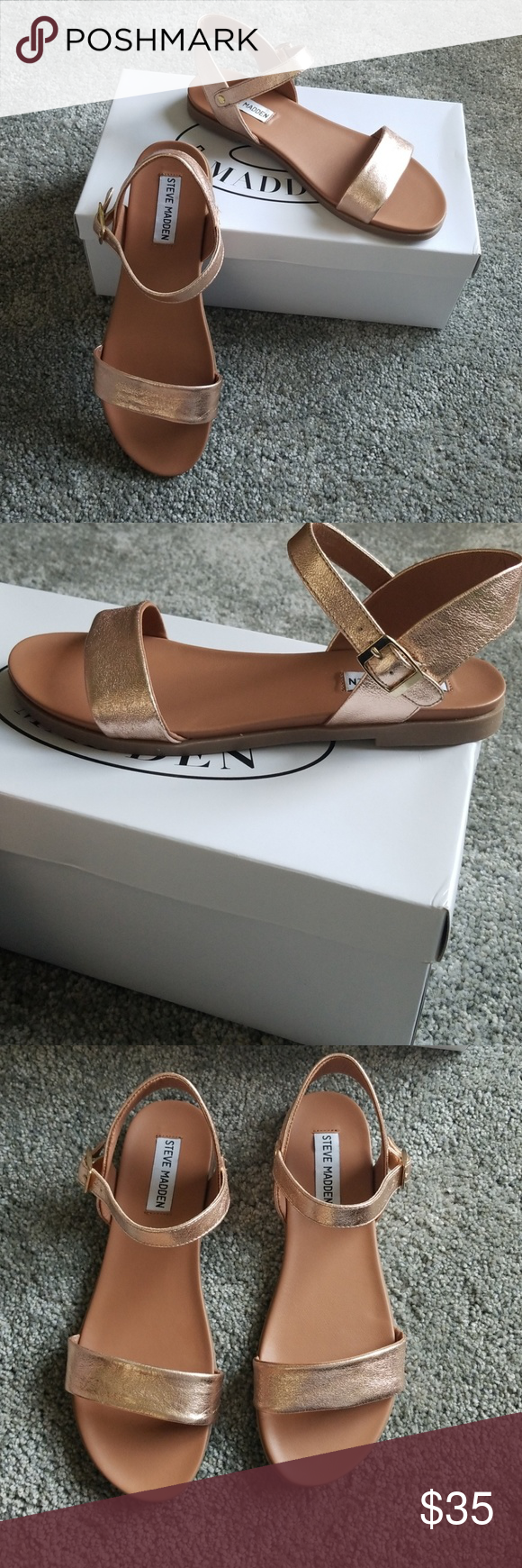 58c5b8ec52b0 Womens Steve Madden Rose Gold Dina sandals 7.5 New in box! Steve Madden  Shoes Sandals