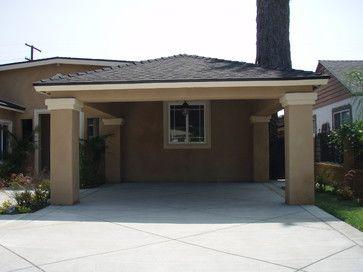 Carport On The Front Of The House Garage Was Made Into A Master Bedroom Garage Renovation Garage Interior Diy Carport