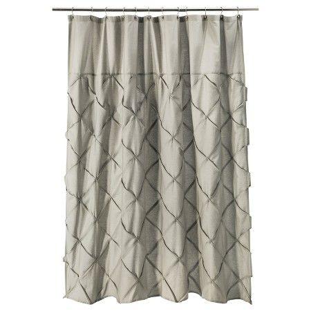 Threshold Pintuck Shower Curtain Target Curtains