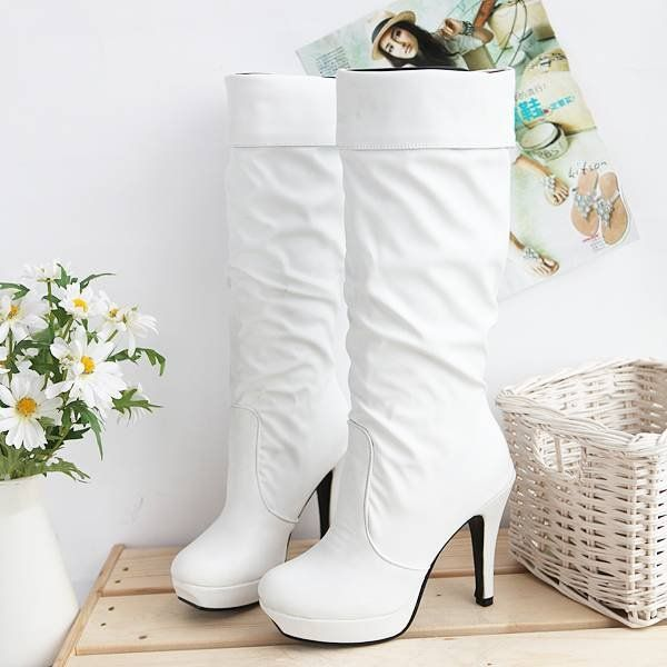 boots for women white | ... Boots Pointed Toe boots Fashion women ...