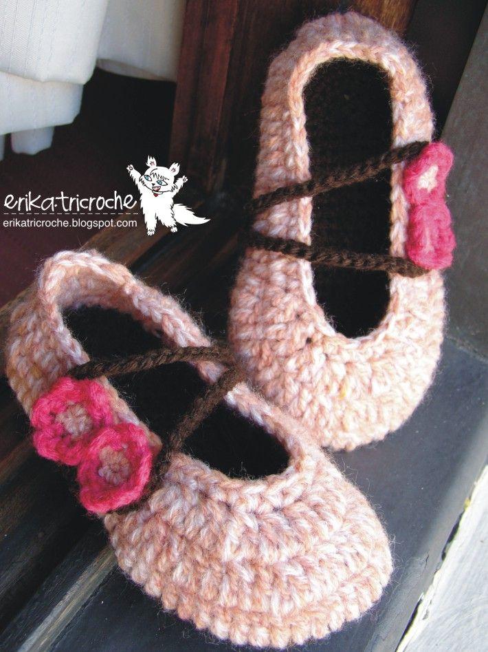Ballerina Slippers Baby Slippers Crochet Crochet Crochet